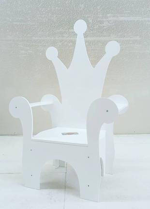 Крісло трон для дитячої фотозони стул стульчик детский корона