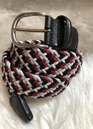 Шикарный плетеный ремень резинка пояс anderson's италия