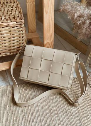 💥 стильная кожаная сумка плетение