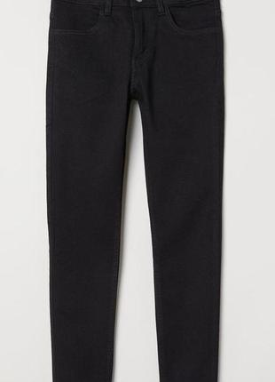 Чёрные джинсы-скинни h&m 8-13лет