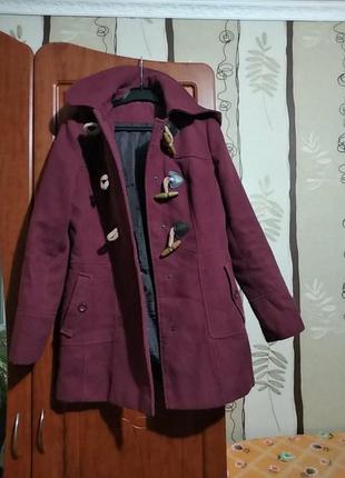 Кашамірове пальтішко з капюшоном