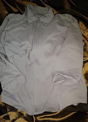 Рубашка серая на молнии.