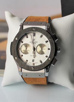Наручные часы hublot big bang beige&white