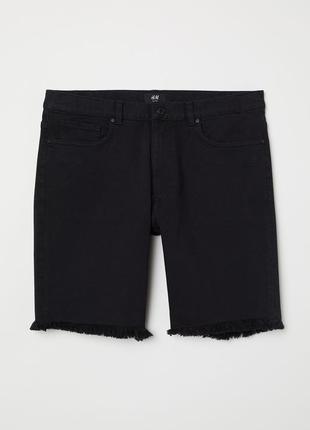 Чёрные джинсовые шорты h&m, slim fit !