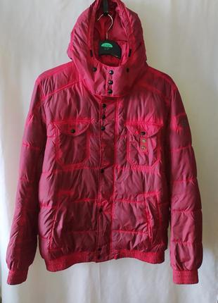 Мужская дизайнерская дутая зимняя куртка hugo boss orange dyed...
