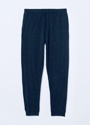 Темно-синие хлопковые штаны h&m !