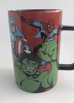 Комикс кружка / чашка от marvel: spiderman, hulk, captain amer...