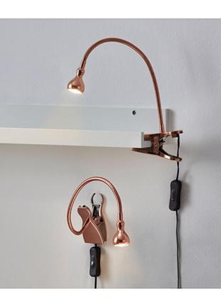 Лампа с зажимом  светодиодная jansjö ikea {яншо икеа} a++