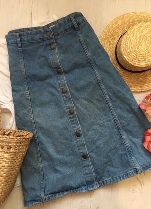 Джинсовая юбка-миди большого размера/5xl