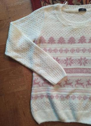 Светр свитер кофта базовая рождество етно снежинки новогодняя ...