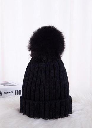 13-145 детская шапка с помпоном