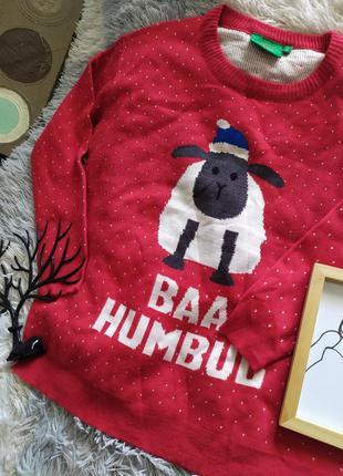 Светр свитер кофта рождество яркий