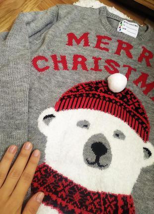 Светр свитер кофта рождество оверсайз