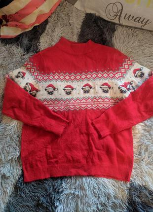 Светр свитер кофта яркий рождество