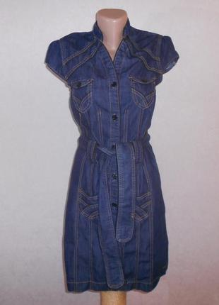 Скидка только 13.12!!! замечательное джинсовое платье с поясом...