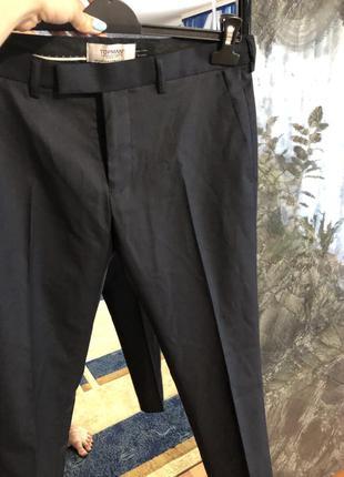 Трендовые мужские зауженные брюки topman