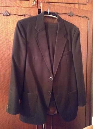 Костюм мужской коричневый классический пиджак и брюки