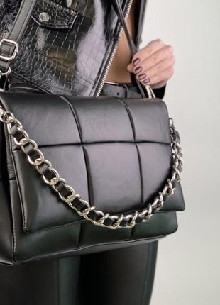Кожаная сумка фактурное плетение итальянская мягкая сумка шкір...