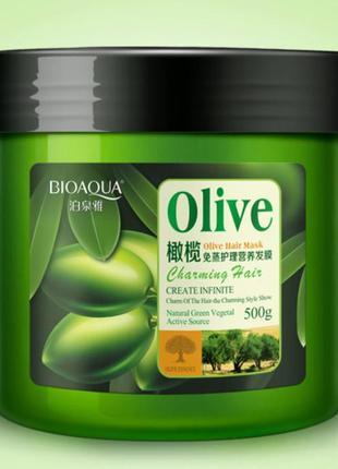 Азиатская маска для волос олива bioaqua olive hair mask