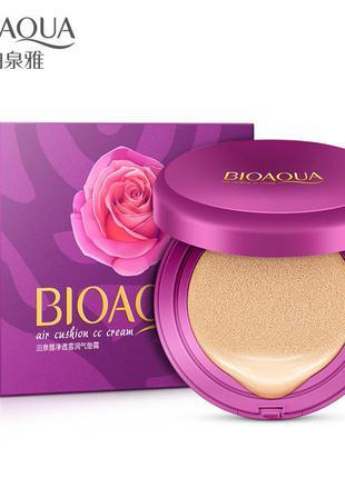 Кушон с запаской тон 02# bioaqua air cushion bb cream cc cream