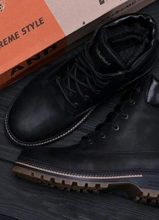 Мужские зимние кожаные ботинки Timberlend