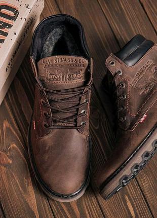Мужские зимние кожаные ботинки Levis Expensive Fox