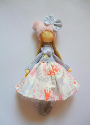 Забавная кукла ручной работы. кукла в подарок