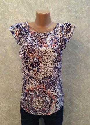 Блузка с рюшами на плечах размер 12-14 jessica