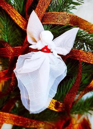 Новогодняя игрушка ангел-хранитель
