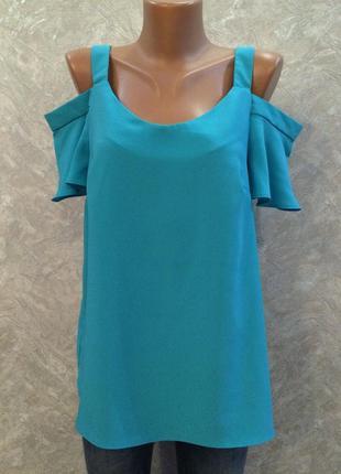 Блузка с открытыми плечами и рюшами george