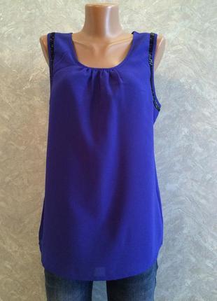 Блузка из креп шифона с подкладкой размер 8-10 vero moda