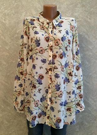 Блуза в цветы размер 20-22 george
