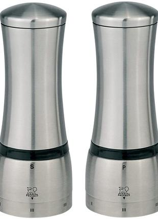 Мельница Peugeot Mahe для перца, соли. Нерж сталь, высота 16см