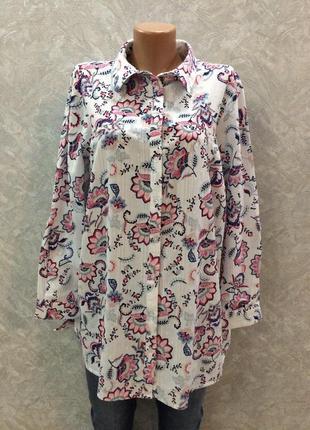 Блуза в цветы размер 18-20