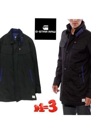 ♥1+1=3♥ g-star черная куртка тренч из плотного денима