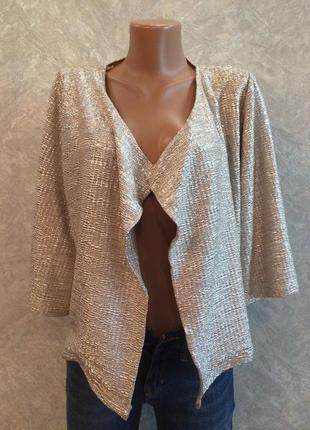 Кардиган жакет накидка кимоно с широким укороченным рукавом с ...