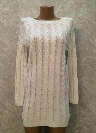 Туника-платье свитер вязка косы