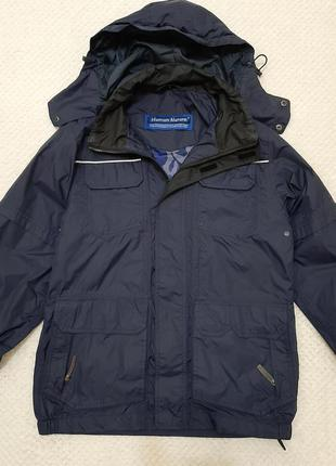 Добротная куртка ветровка, штурмовка human nature р. 44-46, синяя
