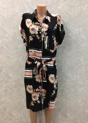 Платье рубашка в цветы dorothy perkins