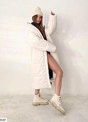 Длинное оверсайз пальто