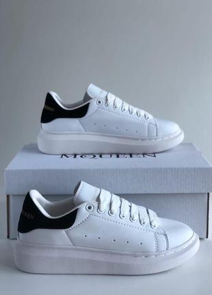 Alexander mcqueen black&white  кроссовки  женские