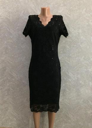 Платье гипюровое кружевное нарядное вечернее  с паетками george
