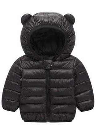 Чёрная куртка с ушками
