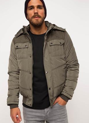 Куртка мужская зимняя defacto - цвет хаки - размер xl 52-54 - ...