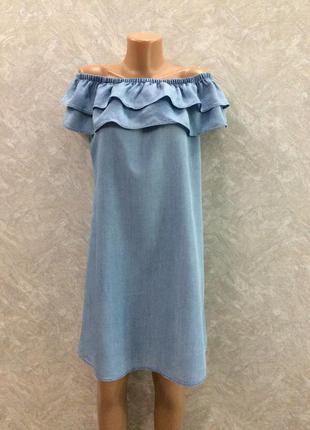 Платье на плечи с воланом размер 10-12 peacocks