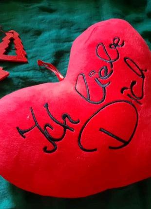 Декоративная подушка сердечко