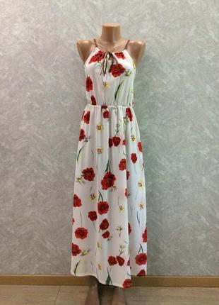 Сарафан в цветы  размер 10-12