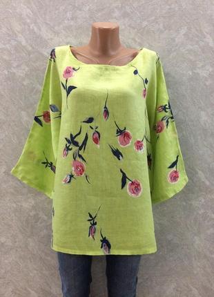 Блуза в цветы размер 16-18  италия