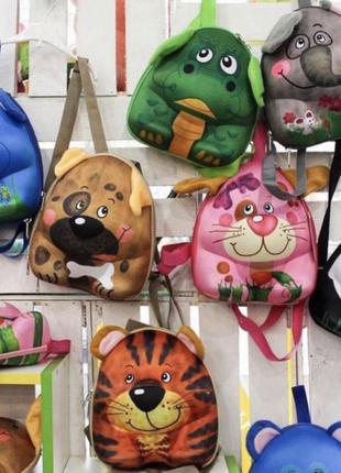Каркасный детский рюкзак 3d в виде животных опт и розница