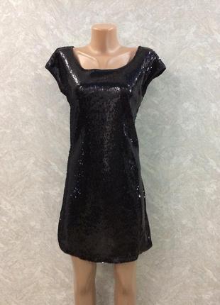Платье в паетки  размер 10-12
